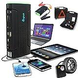 Indigi Car Jump Starter Power Bank Flat Tire Pump Tire Compressor Flash Light Cellphone Tablet Laptop Emergency Backup Power Source