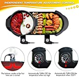 CLORIS 2 in 1 Electric Barbecue Pan Grill and Hot