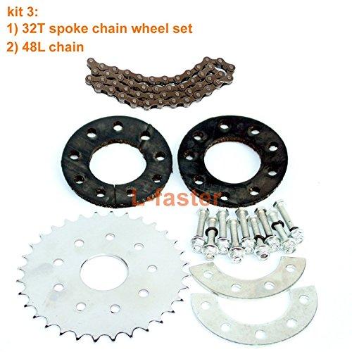 自転車スポークチェーンホイールバイクリアホイール32tスプロケットfor our左ドライブモーターキットFreewheel 16t with Adapter forモーターmy1016z B07BPXNPDL kit 3 kit 3