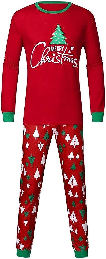 Familien Pyjama Schlafanzug Weihnachten Eltern-Kind Familie Set Mama Dad Christmas Outfit Baby Kid Weihnachtsoutfit Nachtw/äsche Kinder Alphabet Weihnachtsbaum Print Top Print Hosen Home Service