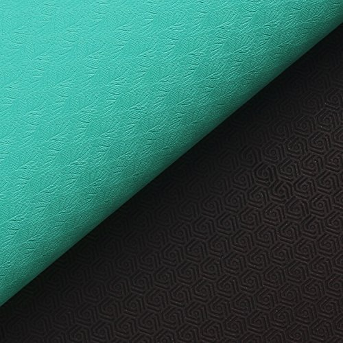 """LIMITED TIME DEAL Yoga Mat with Carrying Strap Large Size 72""""x 28"""",Non Slip Double Layer SGS Certified TPE Material Durable Anti Tear Nontoxic Exercise Workout Mat for Pilates Yoga Fitness"""