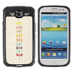 Suave TPU GEL Carcasa Funda Silicona Blando Estuche Caso de protección (para) Samsung Galaxy S3 III I9300 / CECELL Phone case / / Bowtie Pattern Beige Art /