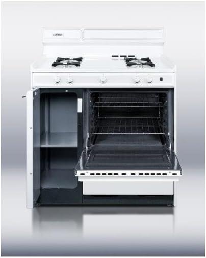 Summit WNM4307 Kitchen Cooking Range, White