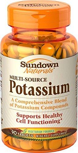 Sundown Naturals Multi-Source Potassium, Tablets, 90 tablets by Sundown (Multi Source Potassium)