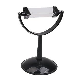 Toyvian Fisica Vetro Ottico Prisma con Supporto didattico in plastica Strumento didattico (Nero)