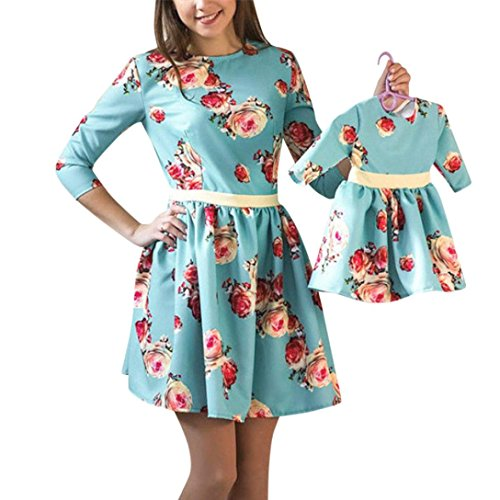 Franterd Mommy & Me Floral Sundress Parent-Child Slim