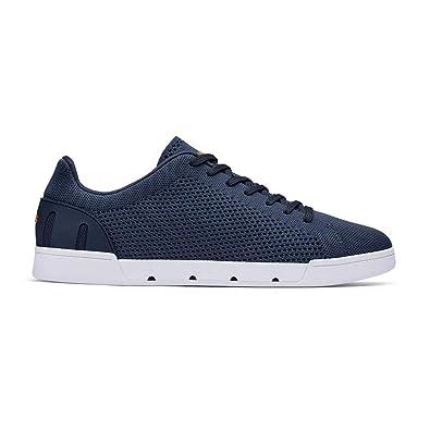bb80a24e9df2 SWIMS Men s Breeze Tennis Knit Sneakers Navy White 7 ...