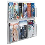 TableTop King LRC106 30'' x 23'' Clear-Vu Combination Pamphlet and Magazine Display with 6 Pamphlet Pockets and 3 Magazine Pockets