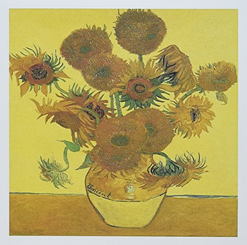 Vase with Fifteen Sunflowers by Vincent Van Gogh - Greeting Card, 6 x 6 inches, single (gc_126467_5)