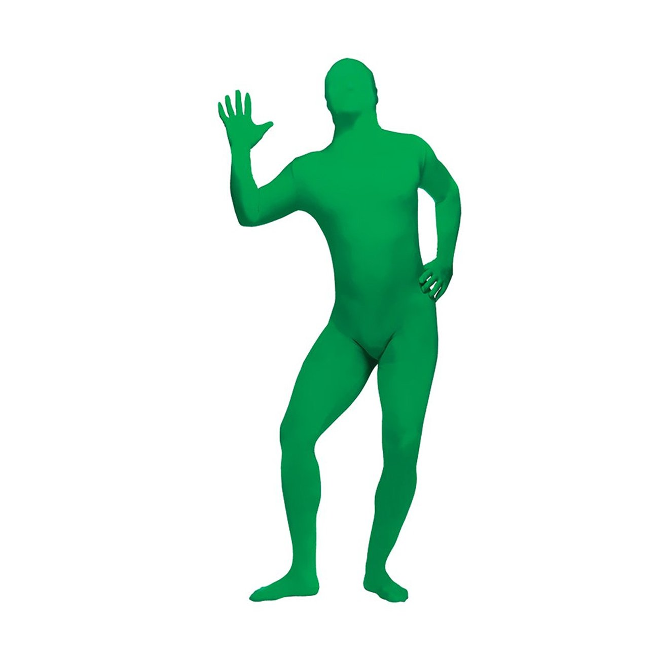 FunWorld Zentai Skin Suit Costume Green One Size Costume 131264G