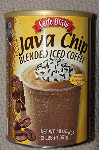 Caffe D'vita Java Chip Latte Blended Iced Coffee Mix - Gluten Free! - 3 Lb. Cannister (48 Oz)