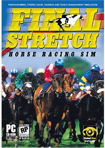 51MNZ67EZZL._AC_SX430_ amazon com final stretch horse racing sim pc video games