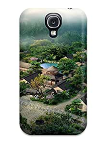 7303853K49920404 For Galaxy S4 Protector Case Japanese Architecture Phone Cover