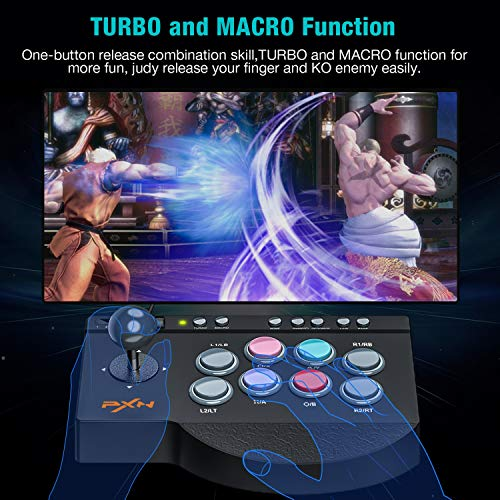 Fighting Stick, ESYWEN Fightstick Joystick Controller for  PS4/Xbox/Switch/PC with Macro Function
