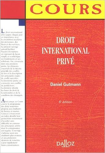 Livre gratuits Droit international privé epub pdf