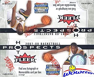 a3e9b33ceba 2007 08 Fleer Hot Prospects NBA Basketball Factory Sealed HUGE 24 Pack  Retail Box with