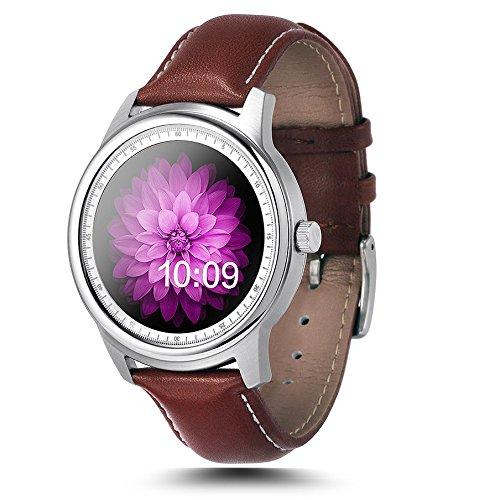 Leopard Shop LEMFO lme1 mtk2502 Bluetooth Monitor de descanso podómetro reloj), color plateado y negro: Amazon.es: Relojes