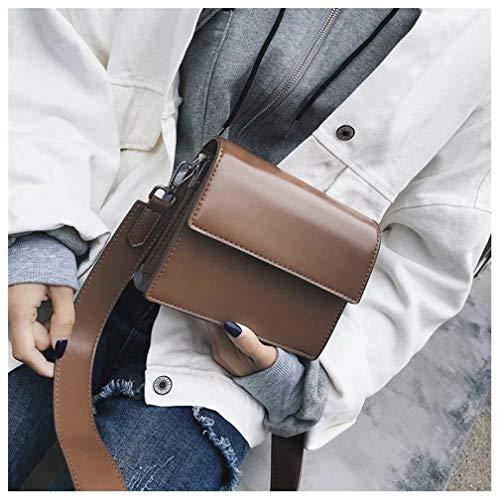 Lady Moda Piccolo Borsa Atmosferica c B Studente Handtasche Quadrato Crossbody Pack Retrò Bag 5qcftnWt