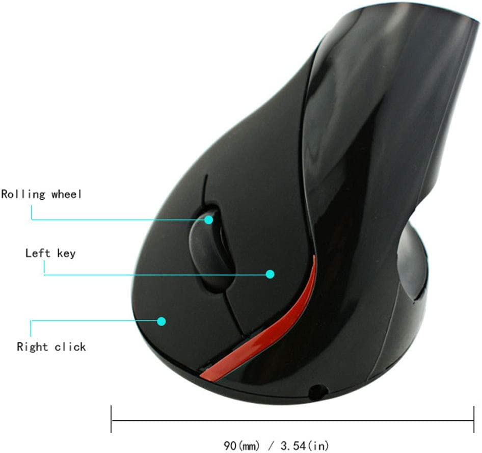 for Optical PC Mouse Computer Laptop for Right Hand,D Artificial Flower 2.4Ghz Wireless Vertical Ergonomic Mouse 1600 DPI Optical Mouse 5 Buttons Rechargeable Ergonomic Mouse