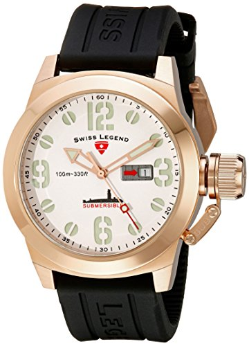 Swiss Legend Men's 10543-RG-02 Submersible Rose Gold-Tone Stainless Steel Watch - Swiss Legend Rose Gold Tone Watch