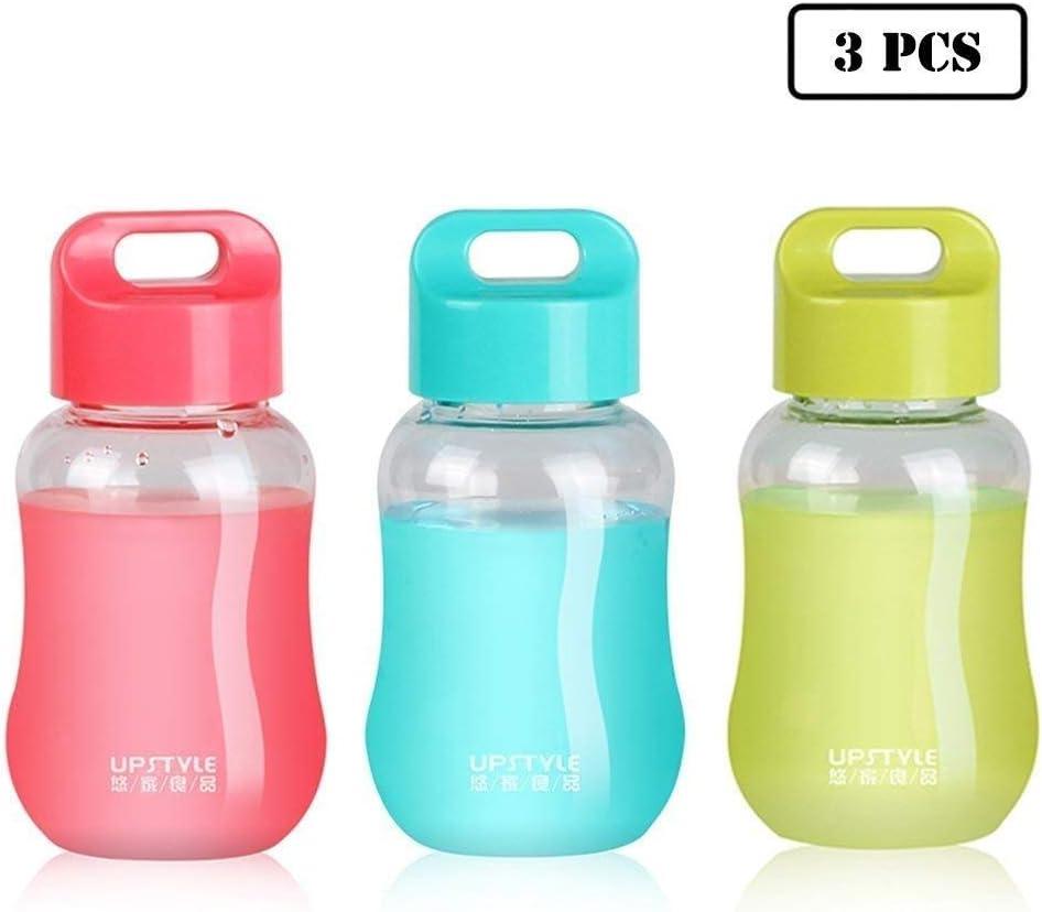 UPSTYLE - Minibotellas de viaje de plástico para viaje, para café, agua, deportes, leche, café, té, zumo, tamaño 180ml