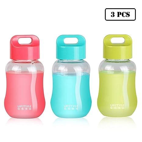 JILIGUALA UPSTYLE Mini Tazas de plástico para café y Viaje, Botella de Agua Deportiva, Taza de Agua para Leche, café, Té, Zumo, Tamaño 180 ML