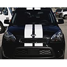Decal Sticker Vinyl Body Racing Stripe Kit Compatible with Kia Soul 2008-2016