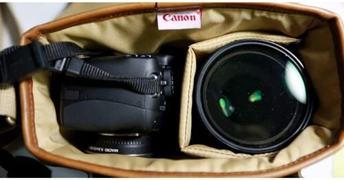 Canon D-SLR RF Mirrorless Pocket Shoulder Bag Case 6520 Khaki for Lens EOS M M2 M3 100D 400D 450D 500D 550D 600D 650D 700D 750D 51MNaUbBf5L