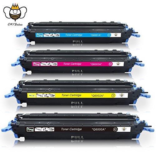 Q6000A (124A) Replacement Toner Cartridges Compatible Color Laserjet 2600n 1600 2605 1015 1017 Printer (1Black + 3Color)