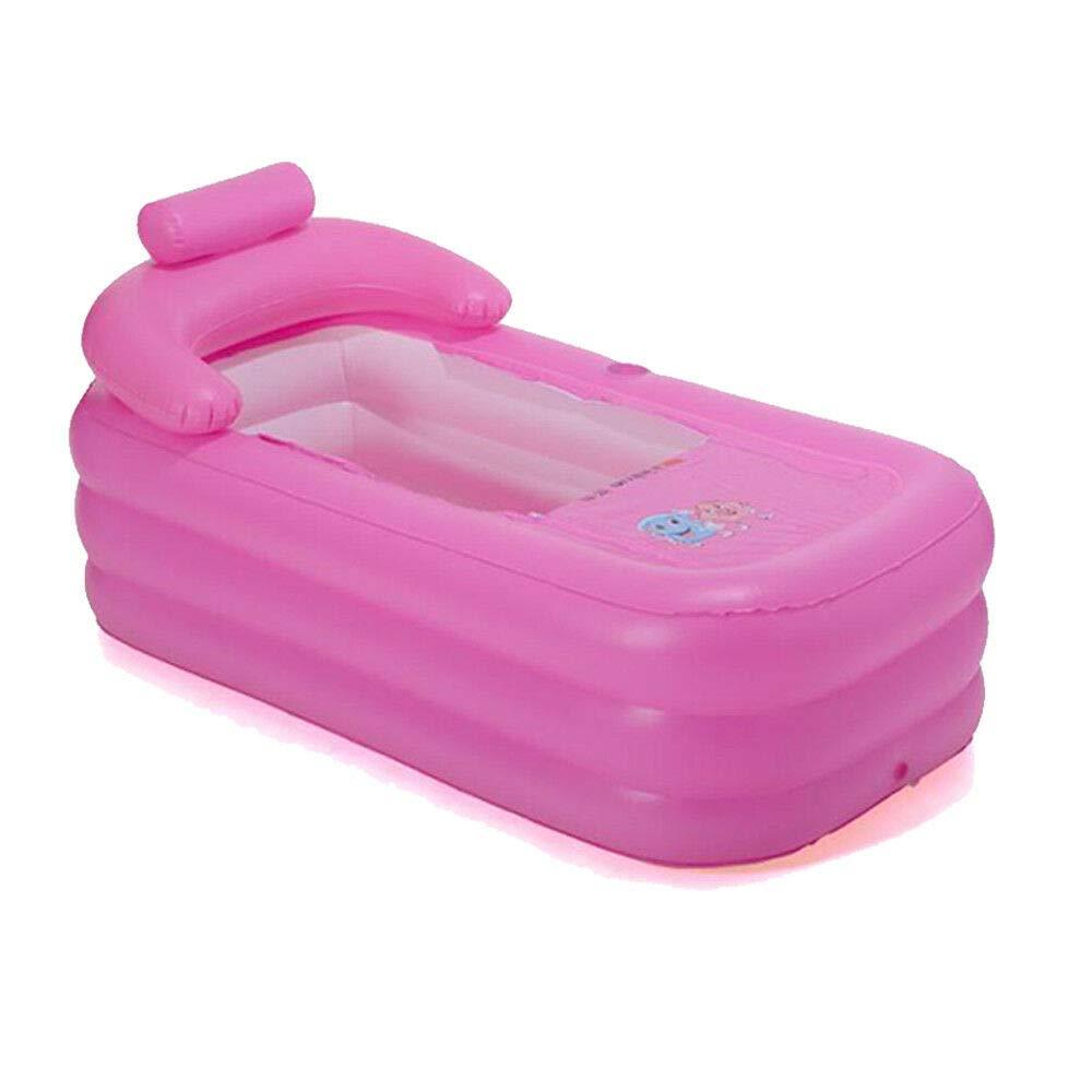 piscina inflable para ni/ños inflable ba/ñera ba/ñera de hidromasaje para el hogar spa inflable SENDERPICK plegable Ba/ñera port/átil de PVC para adultos azul