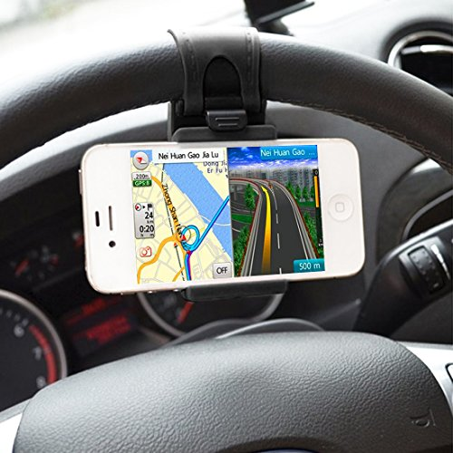 Car Mount, HAWEEL Car Steering Wheel Mobile Phone Stand Holder Mount Clip...