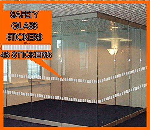 48Glas Sicherheit Aufkleber Ausdruck Etch Effekt Vorne Shop terrassentüren einfach Anwendung in Qualität Produkt