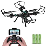 Drone with Camera for Adults Gifts, JoyGeek FPV RC Quadcopter Aircraft Wifi Live Video Altitude Hover 3D VR 2.4GHz 6Axis Gyro Headless Mode APP Remote Control for iPhone Android