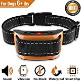 No Shock Bark Collar for Small to Large Dogs – Smart Chip Adjusts to Stop Barking in 1 Minute – Highly Effective Vibration and Sound Stops Barks Fast with No Pain – Safe, Anti-Bark Device