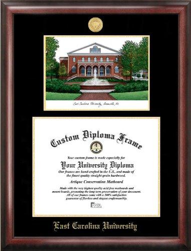 Frame University Carolina East Diploma - Campus Images NC995LGED East Carolina University Embossed Diploma Frame with Lithograph Print, 11