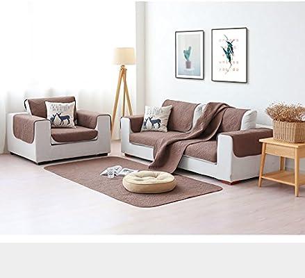 TT&CC Toallas 100% Algodón Sofá,Sofá De Tela Super Suave Felpa Sofá Amortiguador Premium Sala Muebles Protector Cubre Sofa Slipcover-E 90x210cm(35x83inch): Amazon.es: Hogar