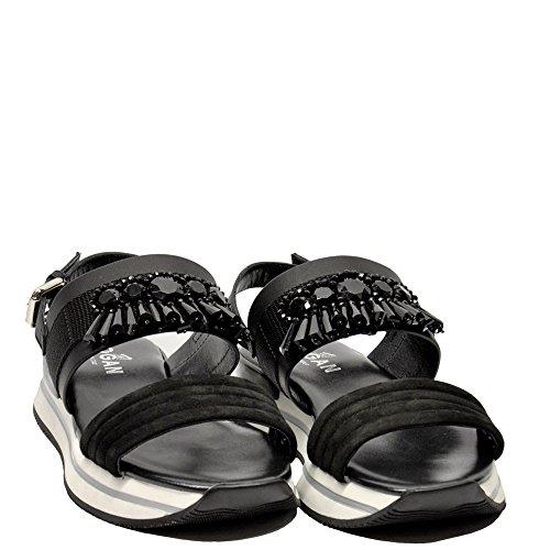 negro vestir de negro negro para mujer Sandalias Hogan AFxqPHp