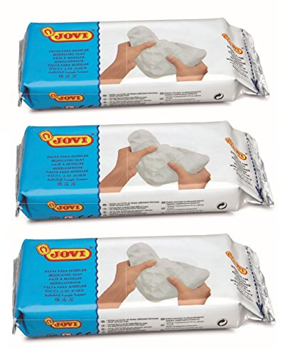 - Jovi 86M Premium European Air Dry Modeling Clay Pack of 3, 6.6 lb, White