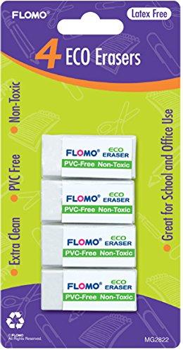 4 pack Eco Erasers 48 pcs sku# 1916139MA by FLOMO (Image #1)