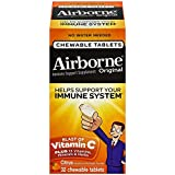 Airborne Blast of Vitamin C, Chewable Tablets, Citrus 32 ct (Pack of 6)