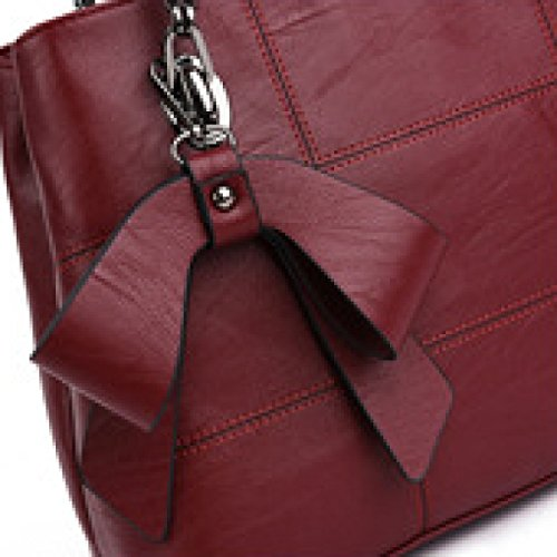 Main Tote Bag DarkBlue Messenger Bandoulière Sac Sacs Burgundy yanzi Bow Mode De Ladies Hand à à 7vFxqOwE