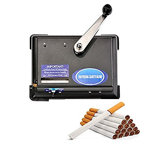 Hindom Cigarette Rolling Machine, Hand Operation Tobacco Injector Roller Maker, US Stock by Hindom