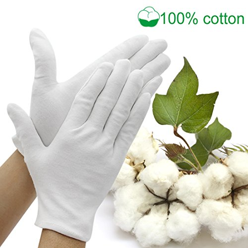 Jaciya Moisturizing Gloves Jaciya 10 Pairs Cotton Hand Spa Gloves Moisture Enhancing Gloves Cosmetic...