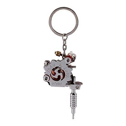 Amazon mini tattoo machine pendant key chain metal alloy gun mini tattoo machine pendant key chain metal alloy gun machine with key rings aloadofball Images