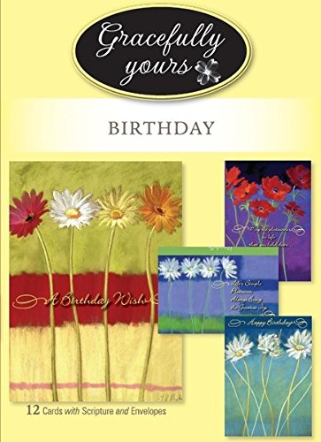 oming Wishes  Birthday Greeting Cards featuring Nel Whatmore, 12,  4 designs/3 each with Inspirational Message ()