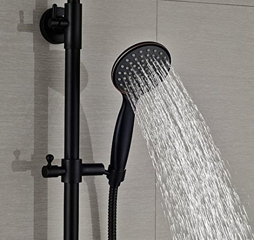 GOWE Luxury Bath Tub Shwoer Set Oil Rubbed Bronze Shower Faucet Double Lever With Handheld Exposed by Gowe (Image #5)