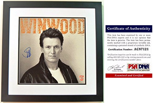 (Steve Winwood Signed - Autographed LP Record Solo Album Cover with PSA/DNA Certificate of Authenticity (COA) BLACK CUSTOM FRAME)
