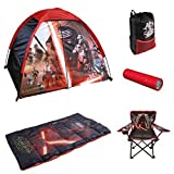 Disney Star Wars, Indoor / Outdoor 4' X 3' Dome Tent, Sleeping Bag, Sling Pack, Flashlight and Folding Armchair 6-piece Camp Kit
