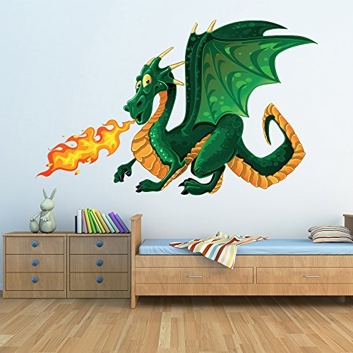 - azutura Green Dragon Wall Sticker Monster Wall Decal Kids Bedroom Home Decor available in 8 Sizes XXX-Large Digital