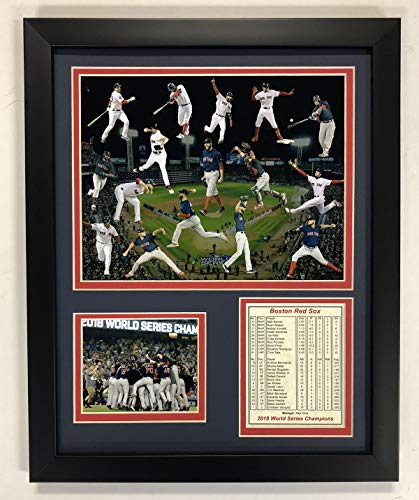 Boston Sox Red Plaque - Legends Never Die MLB Boston Red Sox 2018 World Series Champions Framed Photo Collage, Collage, 12 x 15-Inch